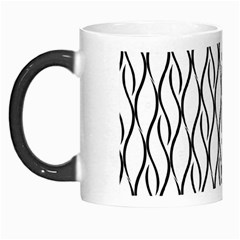 Black And White Elegant Pattern Morph Mugs by Valentinaart