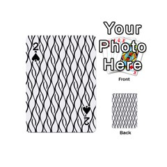 Black And White Elegant Pattern Playing Cards 54 (mini)  by Valentinaart