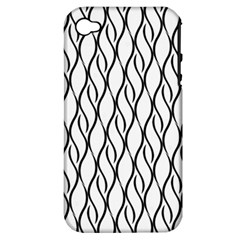 Black And White Elegant Pattern Apple Iphone 4/4s Hardshell Case (pc+silicone) by Valentinaart