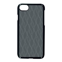 Gray Pattern Apple Iphone 7 Seamless Case (black) by Valentinaart