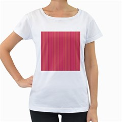 Elegant Lines Women s Loose Fit T Shirt (white) by Valentinaart