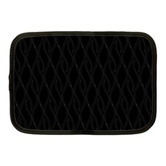 Black Pattern Netbook Case (medium)  by Valentinaart