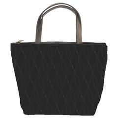 Black Pattern Bucket Bags by Valentinaart