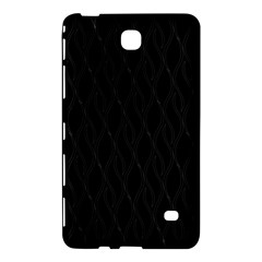 Black Pattern Samsung Galaxy Tab 4 (7 ) Hardshell Case  by Valentinaart