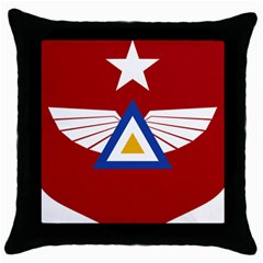 Emblem Of The Myanmar Air Force Throw Pillow Case (black) by abbeyz71
