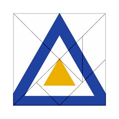 Roundel Of The Myanmar Air Force Acrylic Tangram Puzzle (6  X 6 ) by abbeyz71