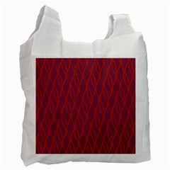Red Pattern Recycle Bag (two Side)  by Valentinaart