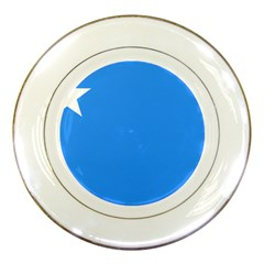 Flag Of The Myanmar Air Force Porcelain Plates by abbeyz71