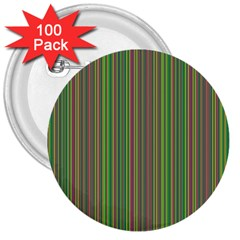 Green Lines 3  Buttons (100 Pack)  by Valentinaart