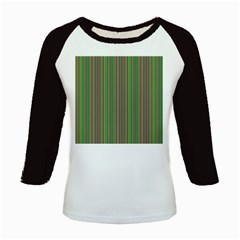 Green Lines Kids Baseball Jerseys by Valentinaart