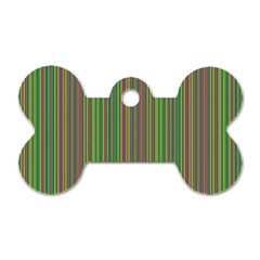 Green Lines Dog Tag Bone (two Sides) by Valentinaart