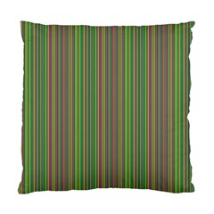 Green lines Standard Cushion Case (One Side)