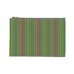 Green Lines Cosmetic Bag (large)  by Valentinaart
