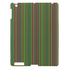 Green Lines Apple Ipad 3/4 Hardshell Case by Valentinaart