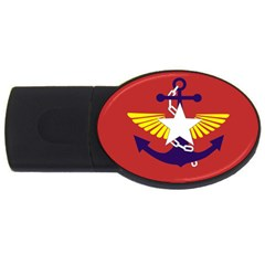 Flag Of The Myanmar Armed Forces Usb Flash Drive Oval (4 Gb) by abbeyz71