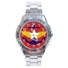 Flag Of The Myanmar Armed Forces Stainless Steel Analogue Watch by abbeyz71