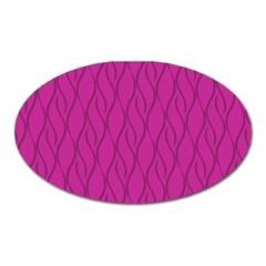 Magenta Pattern Oval Magnet by Valentinaart