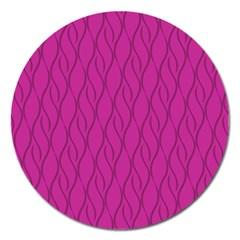 Magenta Pattern Magnet 5  (round) by Valentinaart