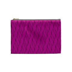 Magenta Pattern Cosmetic Bag (medium)  by Valentinaart