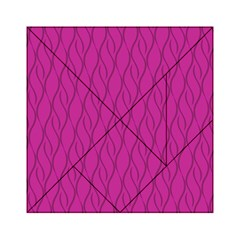 Magenta Pattern Acrylic Tangram Puzzle (6  X 6 ) by Valentinaart