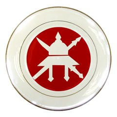 Flag Of The Myanmar Army Porcelain Plates by abbeyz71