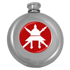 Flag Of The Myanmar Army Round Hip Flask (5 Oz) by abbeyz71