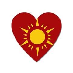 Flag Of Myanmar Army Northeastern Command Heart Magnet by abbeyz71