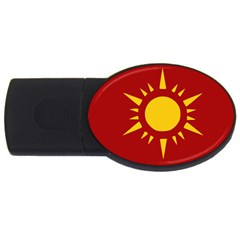 Flag Of Myanmar Army Northeastern Command Usb Flash Drive Oval (4 Gb) by abbeyz71