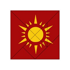 Flag Of Myanmar Army Northeastern Command Acrylic Tangram Puzzle (4  X 4 ) by abbeyz71