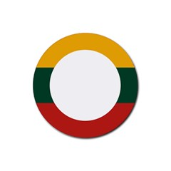 Flag Of Myanmar Shan State Rubber Round Coaster (4 Pack)  by abbeyz71