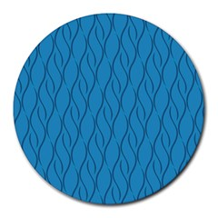 Blue Pattern Round Mousepads by Valentinaart