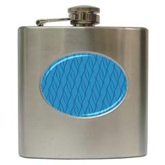 Blue Pattern Hip Flask (6 Oz) by Valentinaart