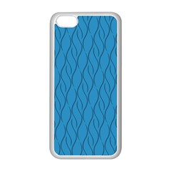 Blue Pattern Apple Iphone 5c Seamless Case (white) by Valentinaart