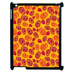 Orange roses Apple iPad 2 Case (Black) by Valentinaart