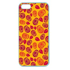 Orange Roses Apple Seamless Iphone 5 Case (color) by Valentinaart