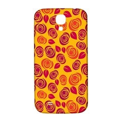 Orange Roses Samsung Galaxy S4 I9500/i9505  Hardshell Back Case by Valentinaart