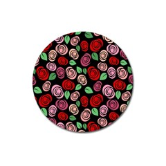 Red And Pink Roses Magnet 3  (round) by Valentinaart