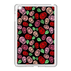 Red And Pink Roses Apple Ipad Mini Case (white) by Valentinaart