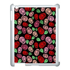Red And Pink Roses Apple Ipad 3/4 Case (white) by Valentinaart
