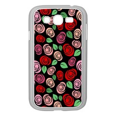 Red And Pink Roses Samsung Galaxy Grand Duos I9082 Case (white) by Valentinaart