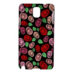Red And Pink Roses Samsung Galaxy Note 3 N9005 Hardshell Case by Valentinaart