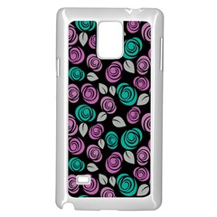 Roses Pattern Samsung Galaxy Note 4 Case (white) by Valentinaart