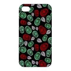 Decorative Floral Pattern Apple Iphone 4/4s Premium Hardshell Case by Valentinaart