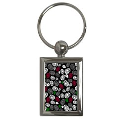 Elegant Roses Design Key Chains (rectangle)  by Valentinaart