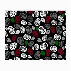 Elegant Roses Design Small Glasses Cloth by Valentinaart