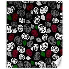 Elegant Roses Design Canvas 8  X 10  by Valentinaart