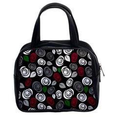Elegant Roses Design Classic Handbags (2 Sides) by Valentinaart