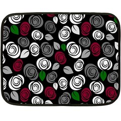 Elegant Roses Design Fleece Blanket (mini) by Valentinaart