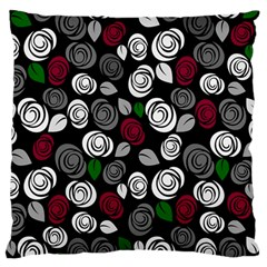 Elegant Roses Design Large Flano Cushion Case (one Side) by Valentinaart