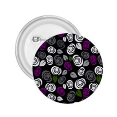 Purple Roses Pattern 2 25  Buttons by Valentinaart